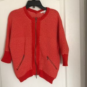 CABI BY ANTHROPOLOGIE ZIP FRONT CARDIGAN SIZE XS
